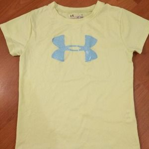 Under Armor Yellow t-shirt size 4